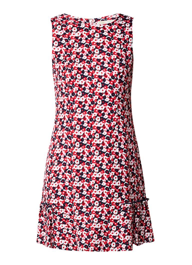 Michael Kors A-lijn jurk van zijde met bloemendessin multicolor