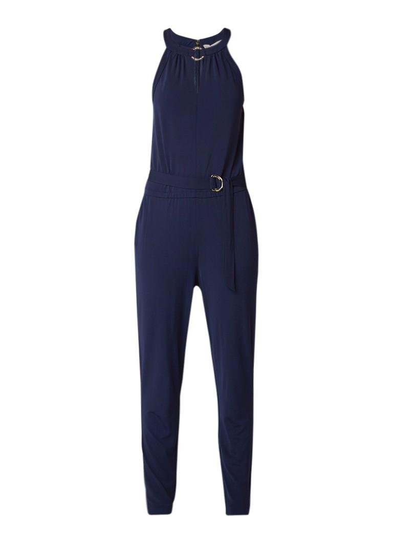 Michael Kors Jumpsuit met halter en strikceintuur