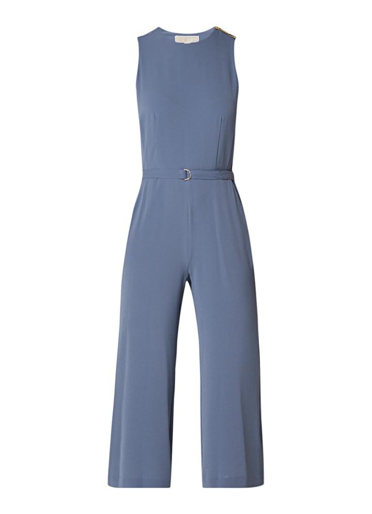 Image of Michael Kors Cropped jumpsuit van crêpe met ceintuur