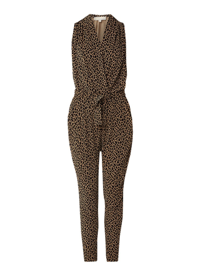 Image of Michael Kors Jumpsuit van stretchjersey met luipaarddessin