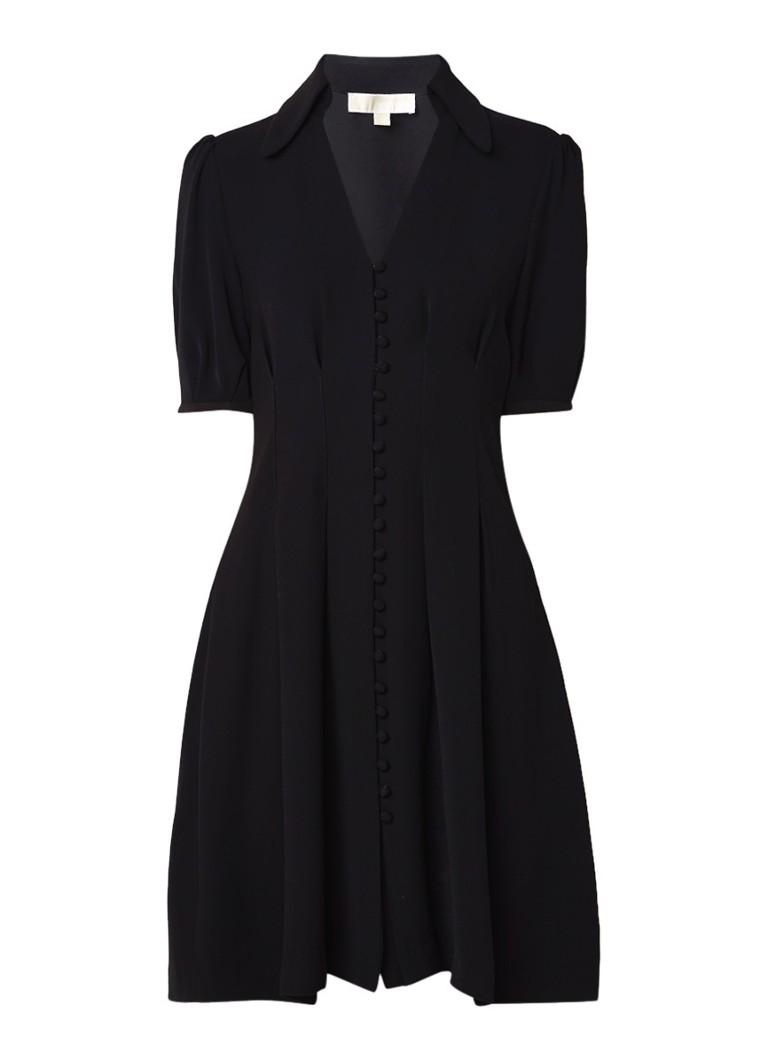 Michael Kors A-lijn blousejurk met pofmouw zwart