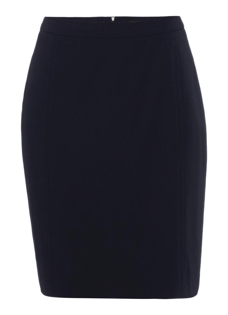 Expresso Xanne kokerrok in donkerblauw zwart