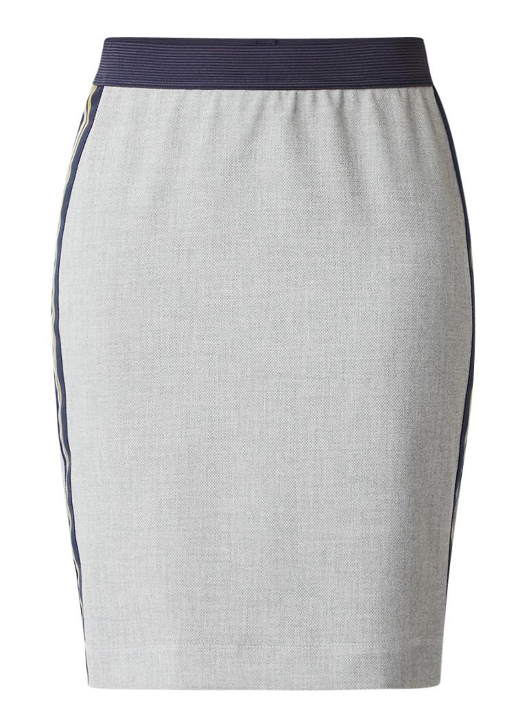 Expresso Kiki rok met contrasterende stof en elastische tailleband