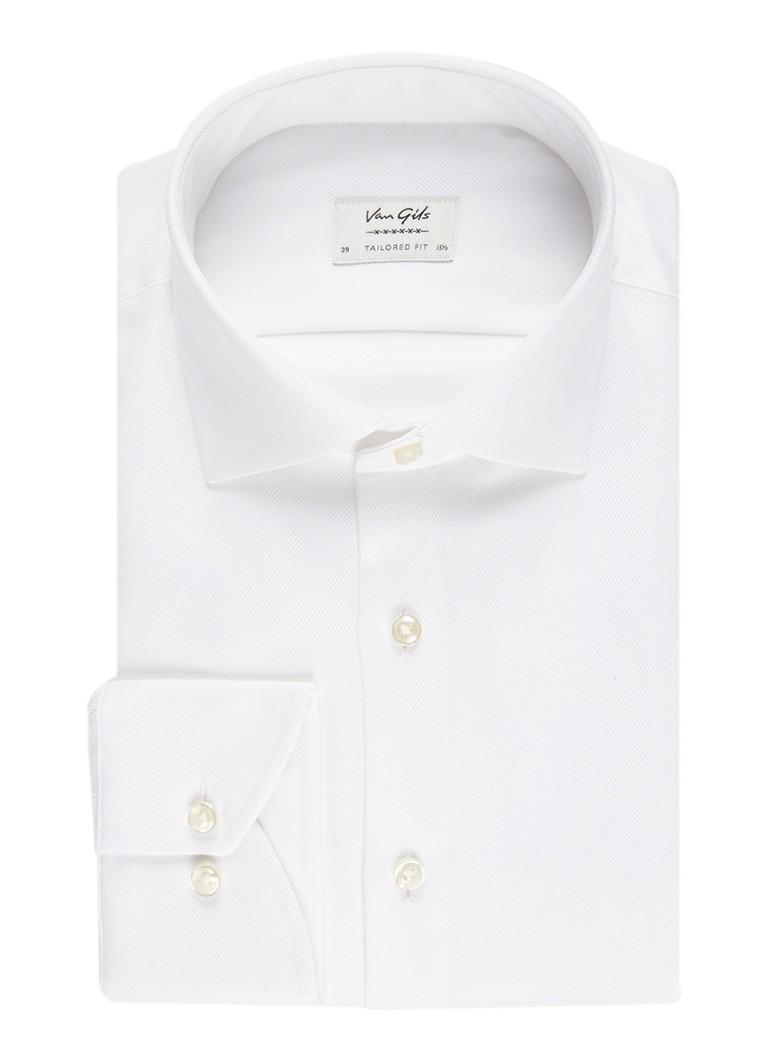 Van Gils Ellington tailored fit overhemd met diagonaal streepdessin