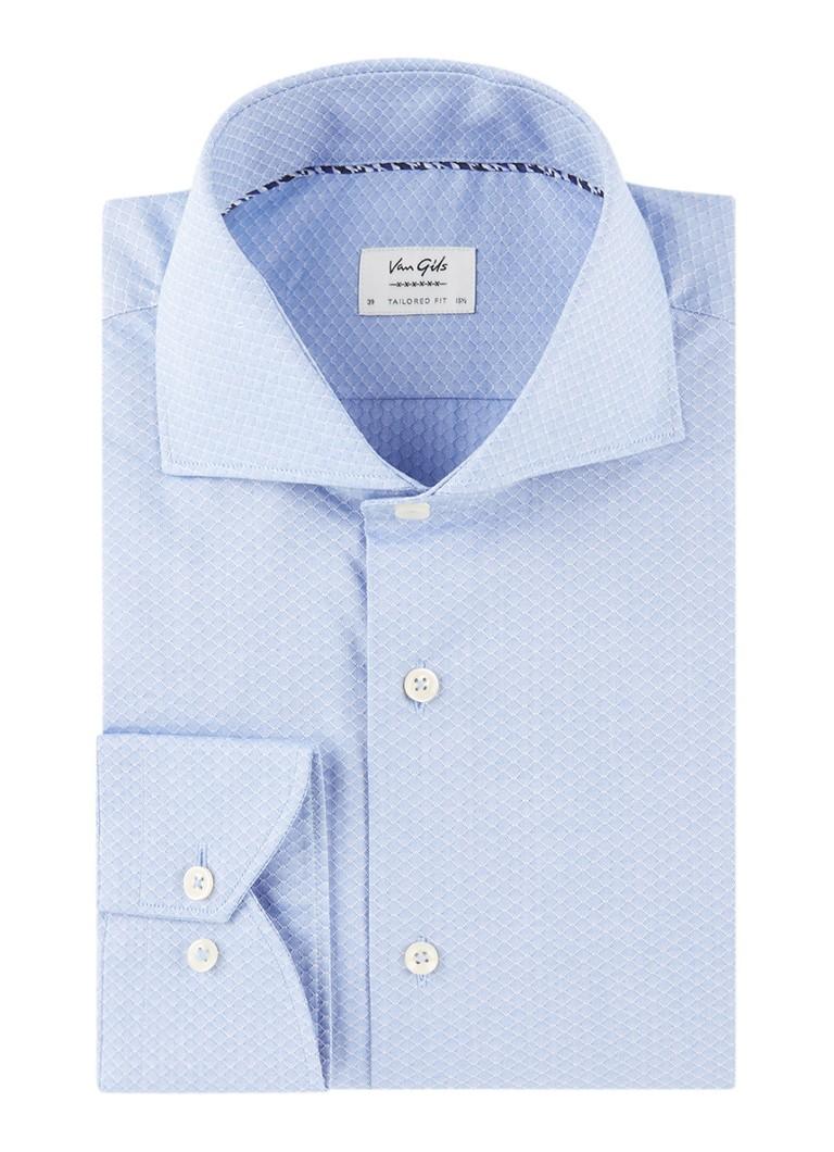 Van Gils Extreme tailored fit overhemd met jacquarddessin