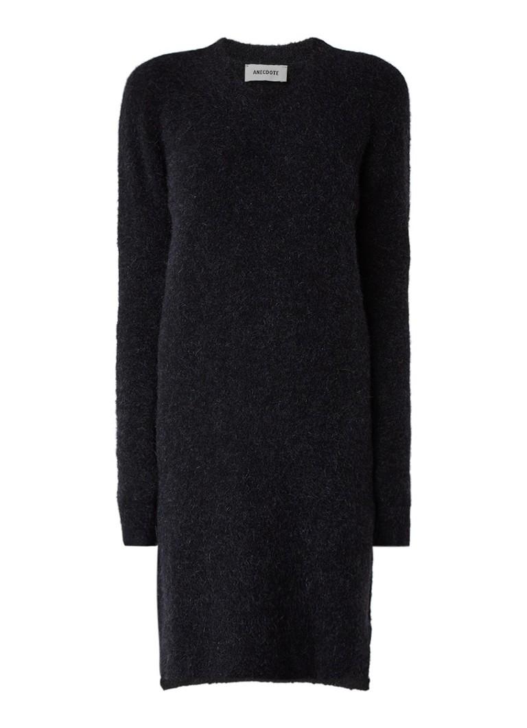Anecdote Daisy gebreide jurk in mohairblend zwart
