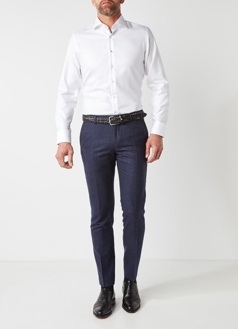 Van Gils Ellington tailored fit overhemd met micro streepdessin