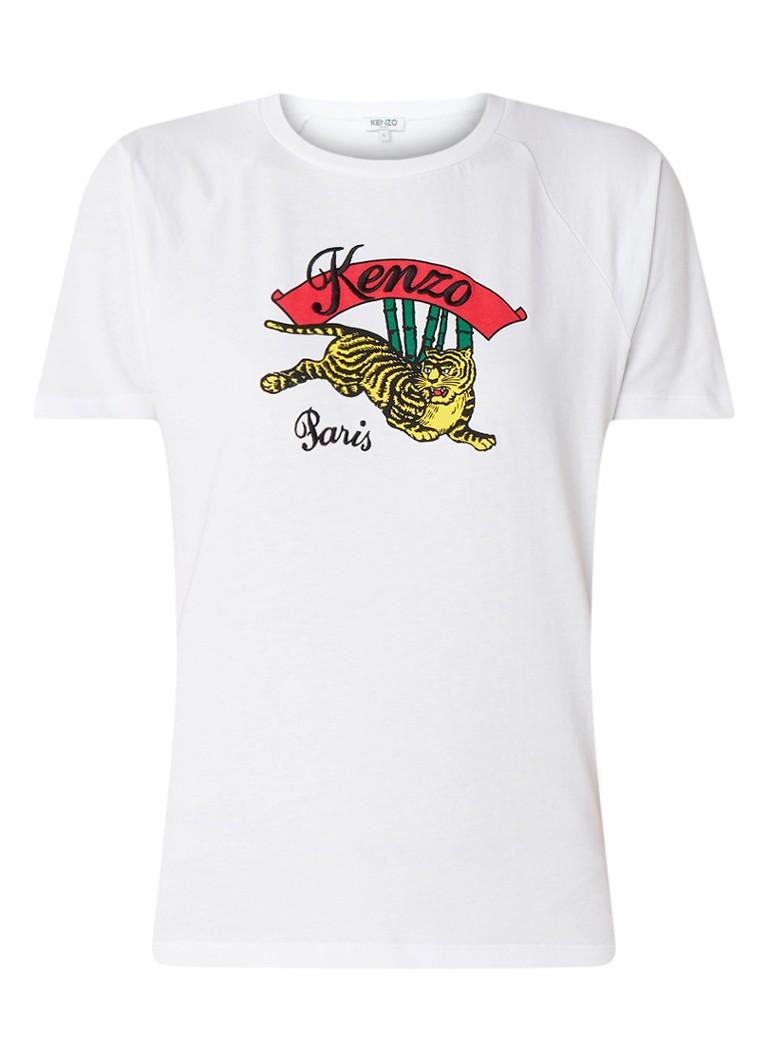 KENZO Jumping Tiger T-shirt met logoborduring