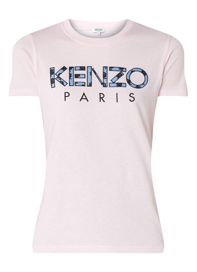 KENZO Fitted T-shirt met logoborduring