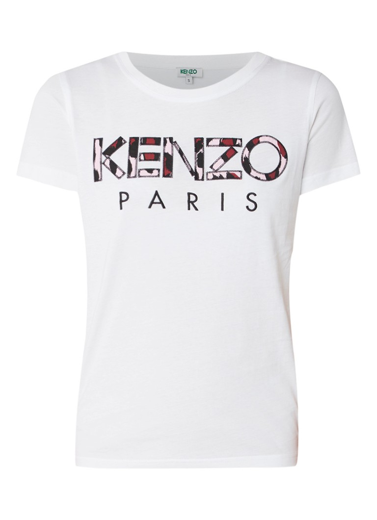KENZO Camo T-shirt met logoborduring