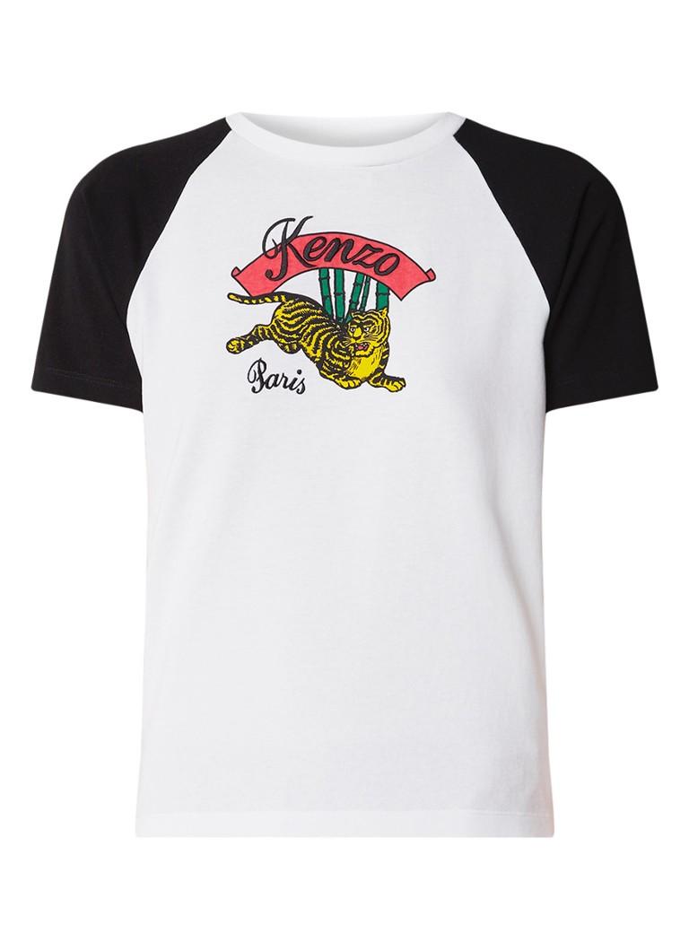 KENZO Baseball T-shirt met logoborduring