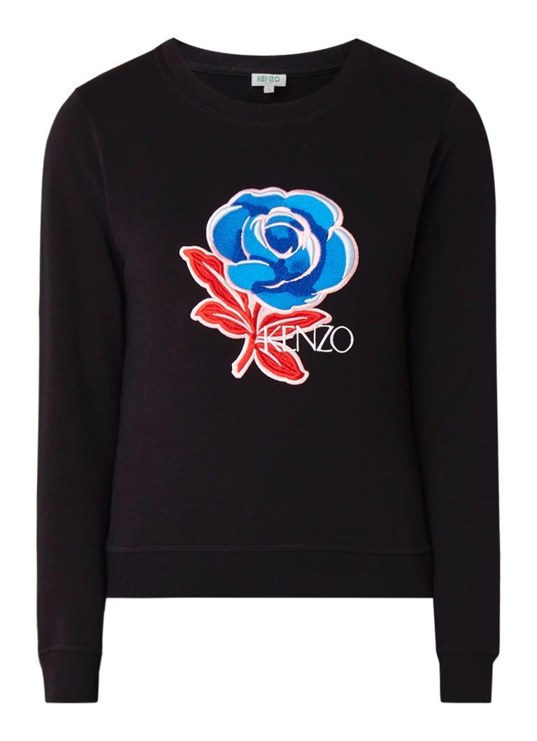 KENZO Flower sweater met logoborduring
