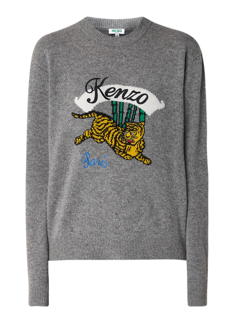 Image of KENZO Bamboo Tiger boxy fit trui van wol