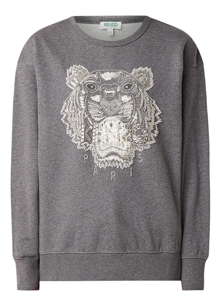 KENZO Icon Tiger sweater met strass