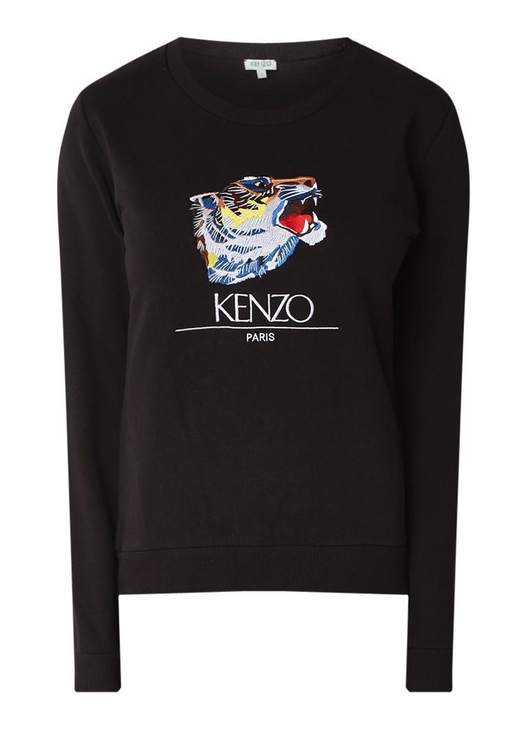 KENZO Tiger Head sweater met borduring