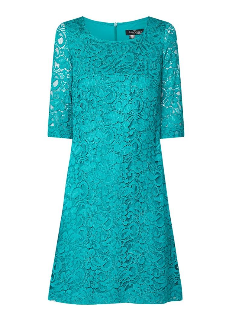 LaDress Norah midi-jurk van kant zeegroen