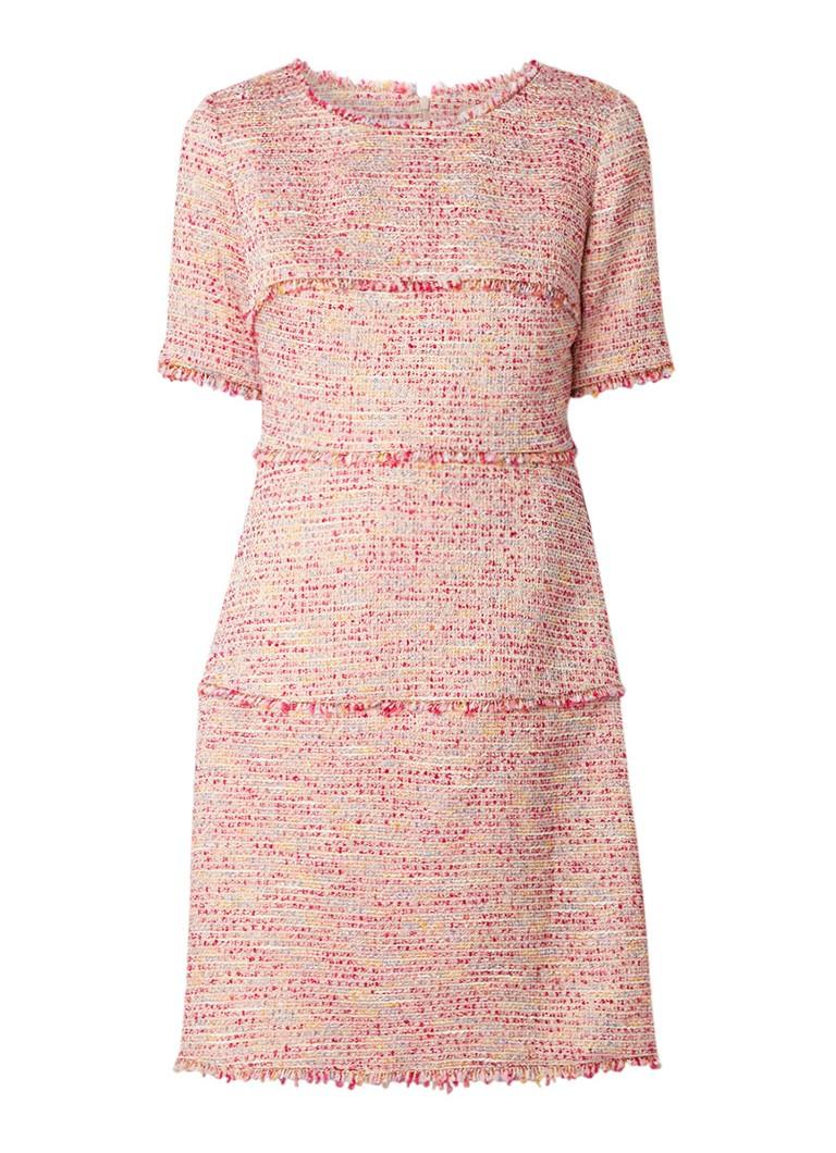 LaDress Freja tuniekjurk van tweed met lurex roze