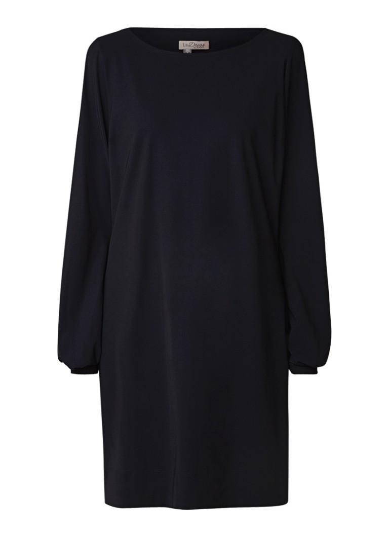 LaDress Blake jersey jurk met steekzakken zwart