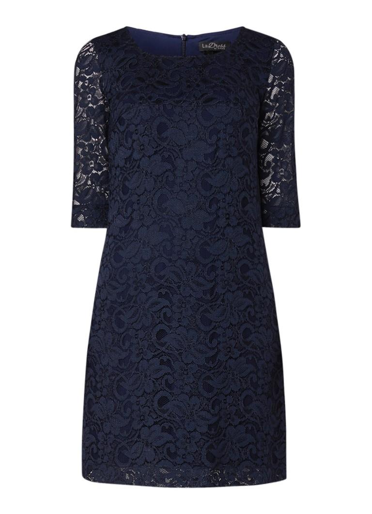 LaDress Norah jurk van kant donkerblauw