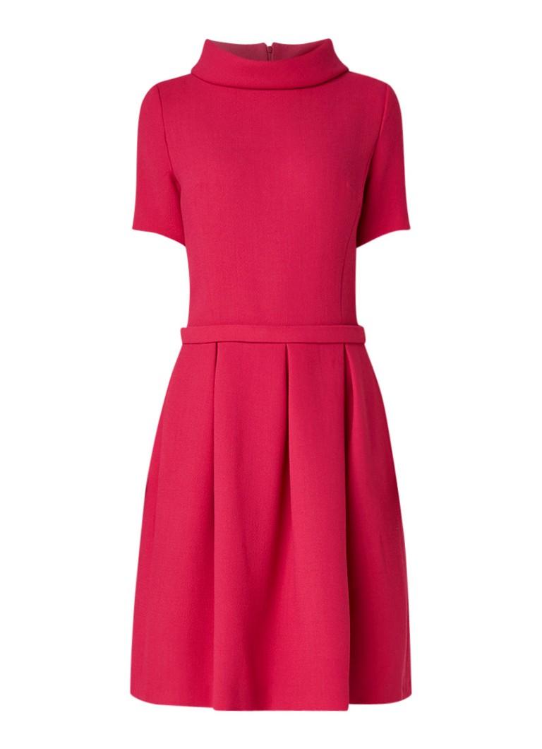 LaDress A-lijn jurk met plooien fuchsia