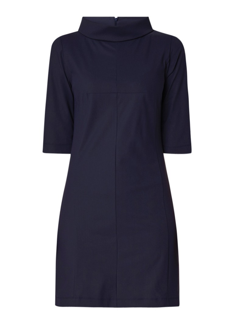 LaDress Peggy mini-jurk met stretch donkerblauw