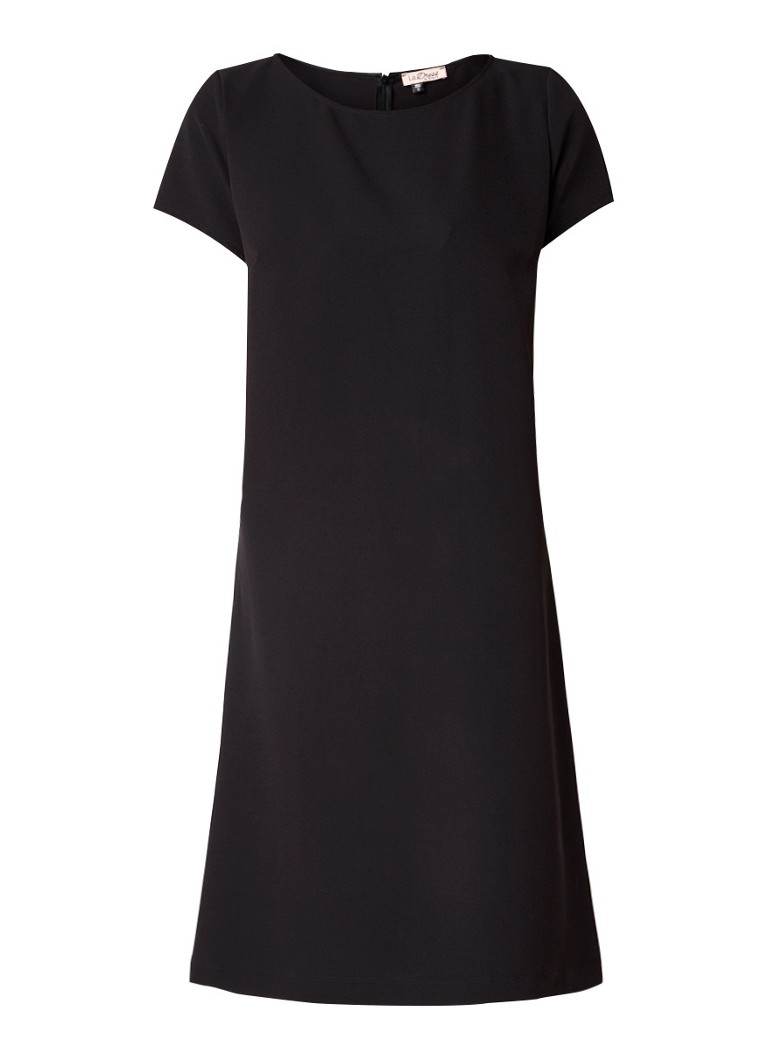LaDress Mary A-lijn jurk van crêpe zwart
