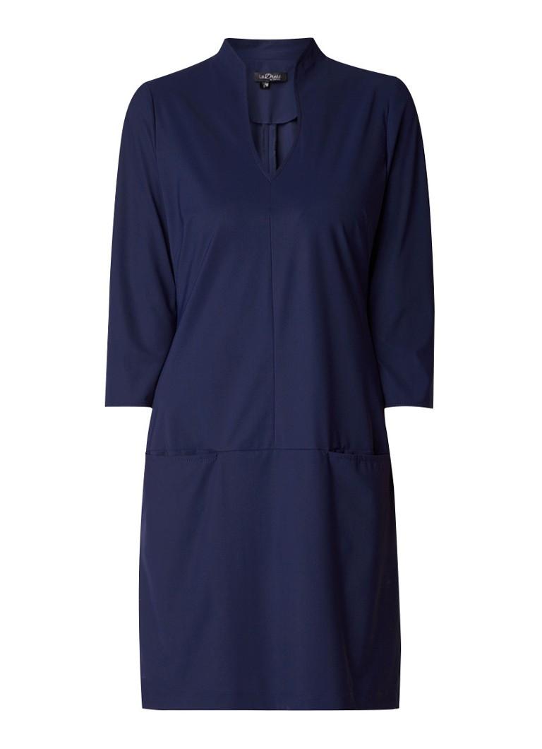 LaDress Sade tuniekjurk met steekzakken donkerblauw