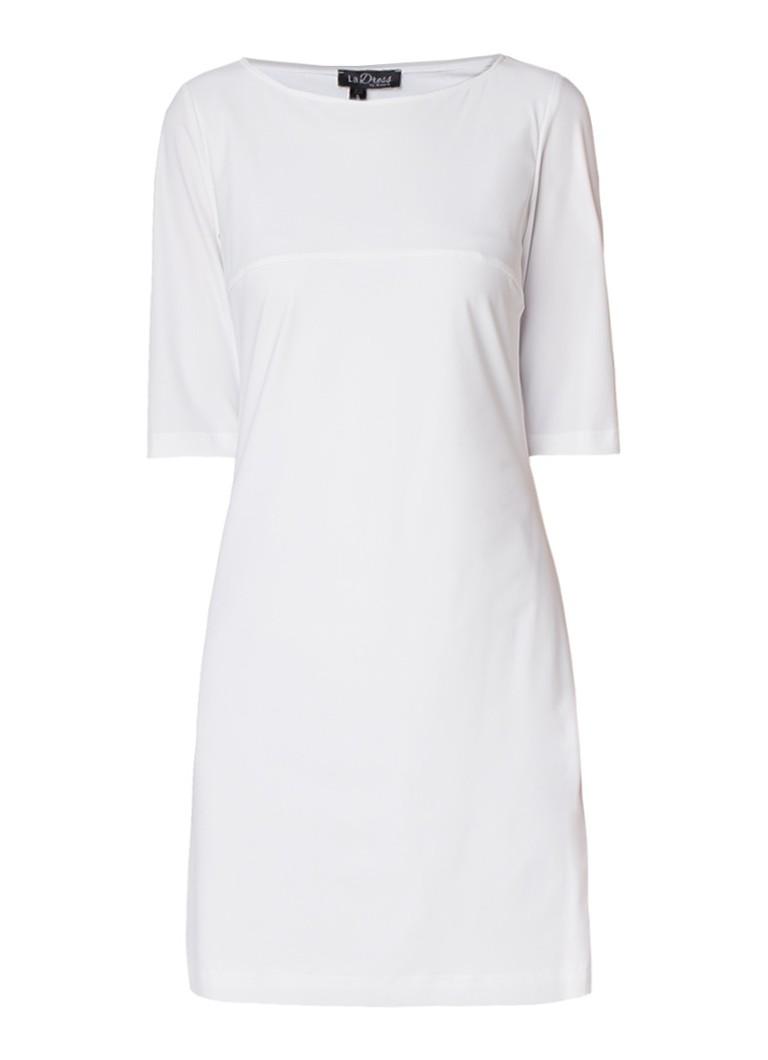 LaDress Aerin A-lijn jurk van jersey gebroken wit