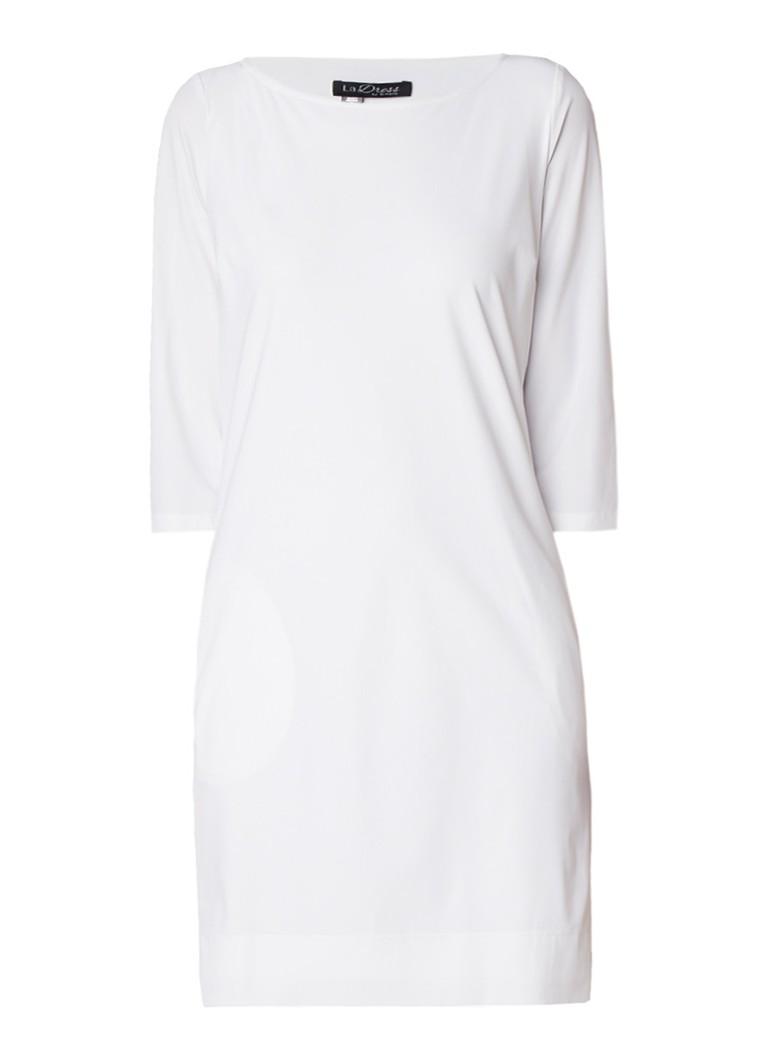 LaDress Lianne tuniekjurk van jersey met steekzak wit