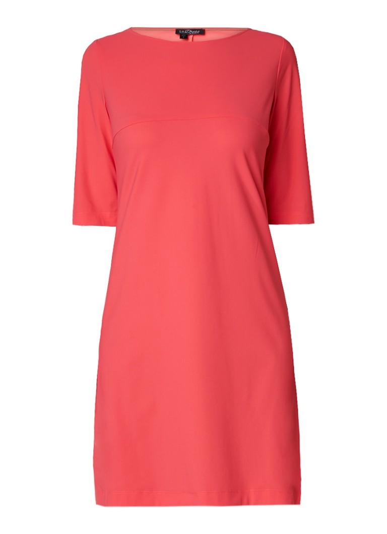 LaDress Aerin A-lijn jurk van jersey koraalrood