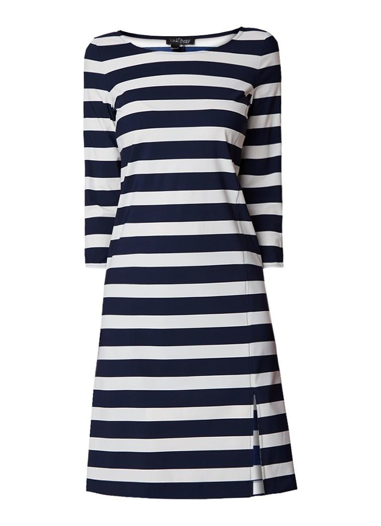 LaDress Sarah jersey jurk met streepdessin donkerblauw