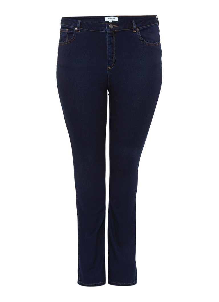 Studio 8 Jaya high rise flared jeans met donkere wassing
