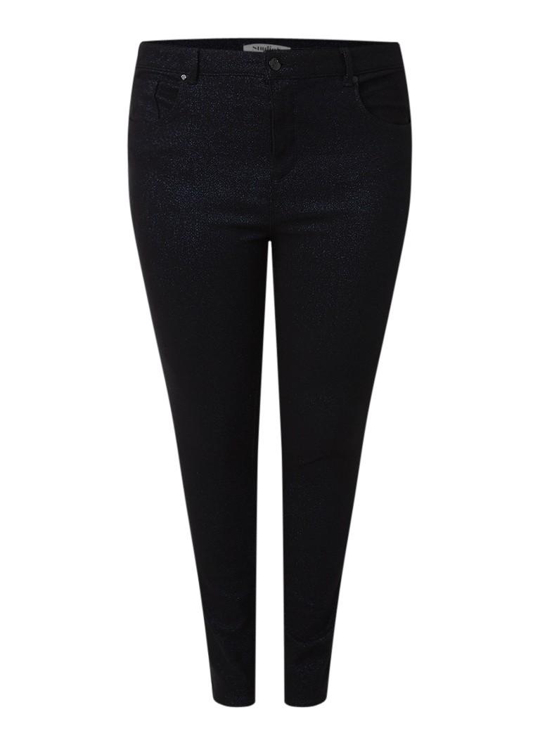 Studio 8 Fritha high rise cropped skinny jeans met glitter