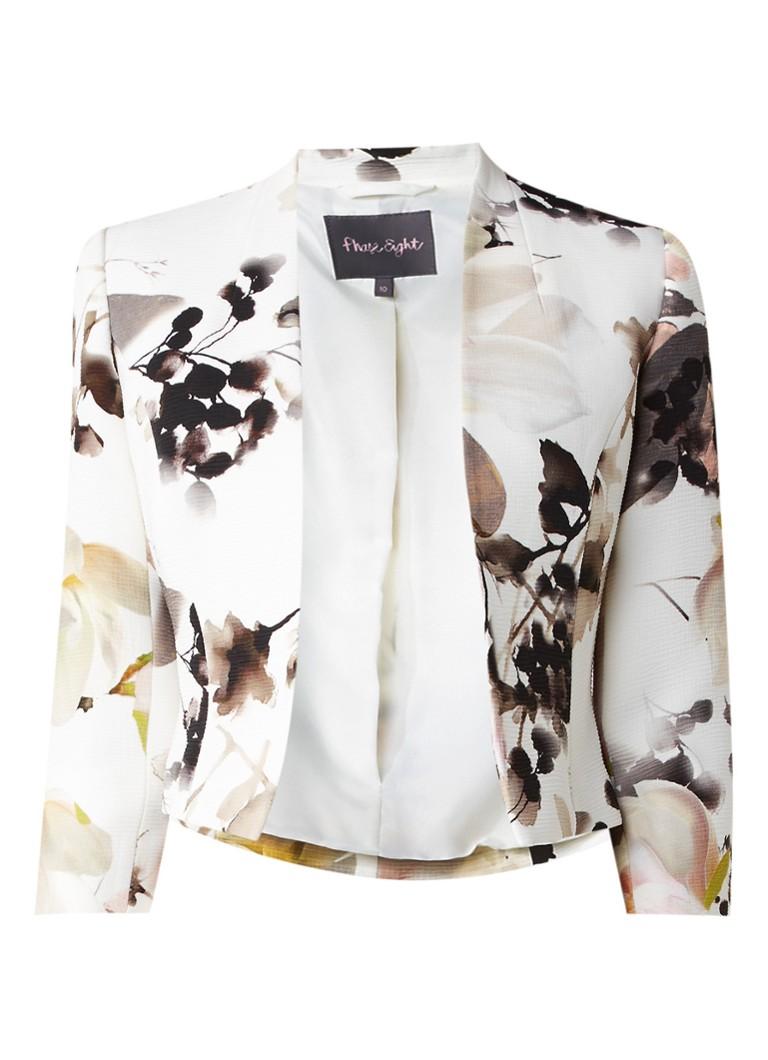 Phase Eight Mayumi blazer met bloemendessin wit