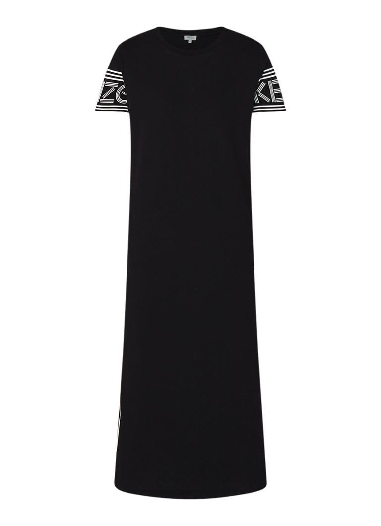 KENZO Skate loose fit midi-jurk met logoprint zwart