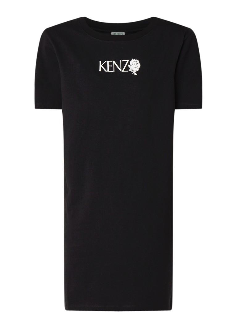 KENZO T-shirt jurk met logoprint zwart