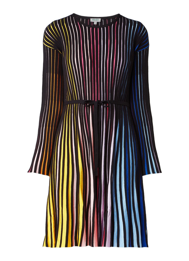 KENZO Ribgebreide jurk met kleurverloop multicolor