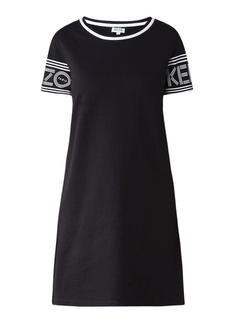 KENZO Skate T-shirt jurk met logoprint zwart