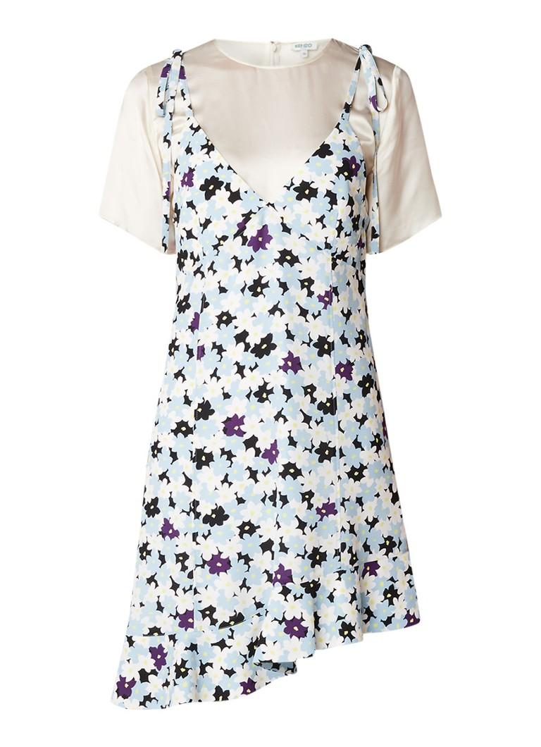 KENZO Jackie jurk met bloemendessin lichtblauw