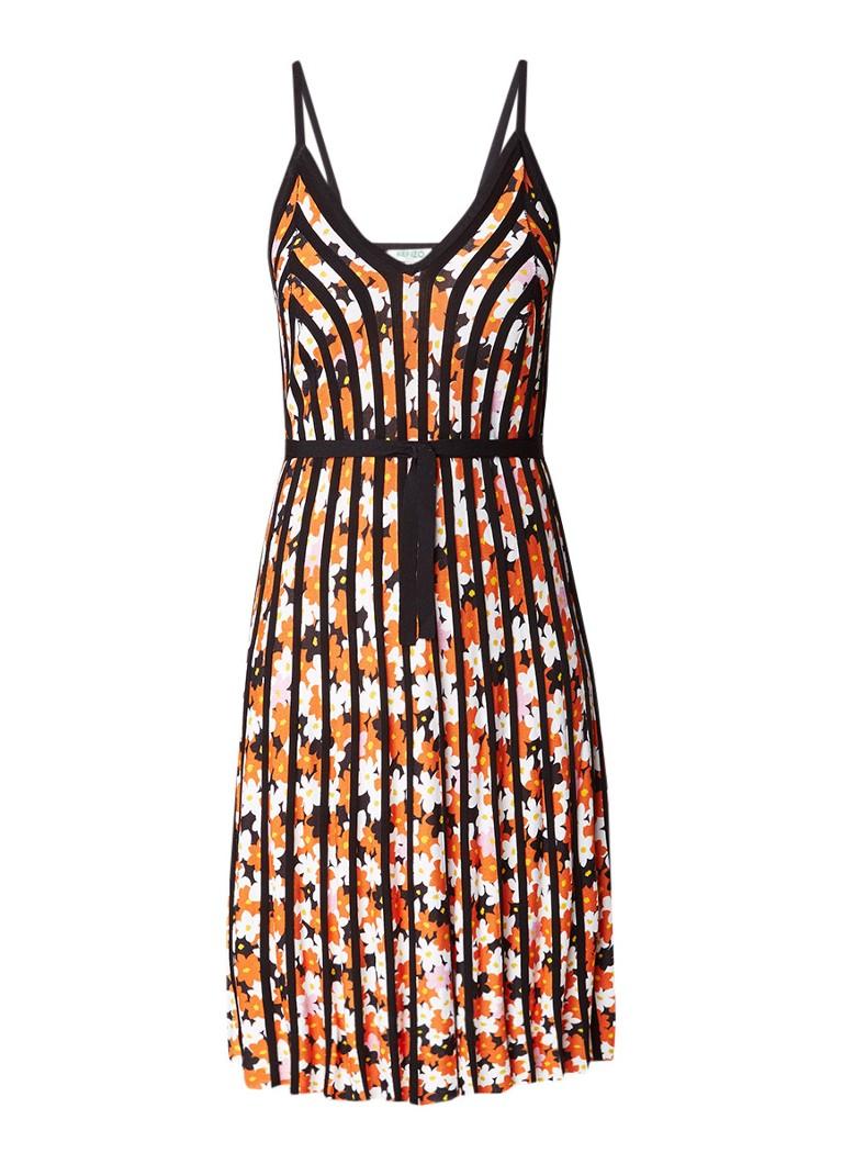 KENZO Jackie A-lijn jurk met bloemendessin zwart
