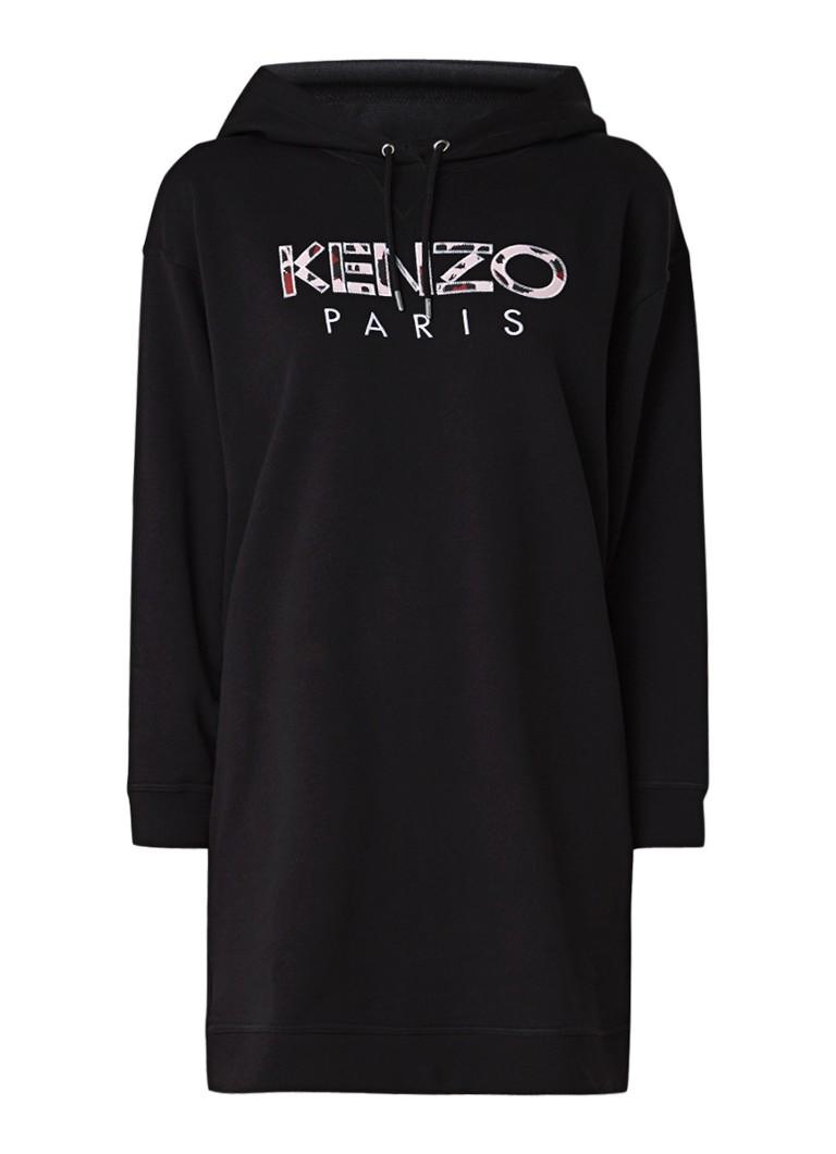 KENZO Sweaterjurk met logoborduring zwart