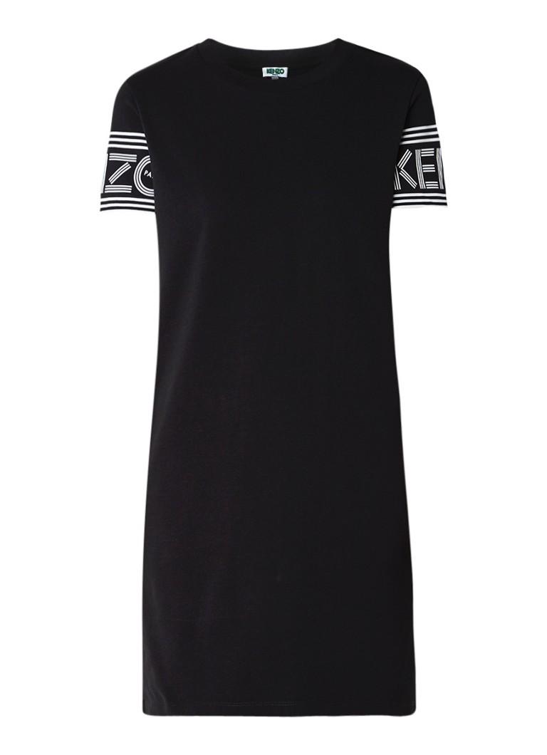KENZO KENZO Logo T-shirt jurk met logoprint zwart