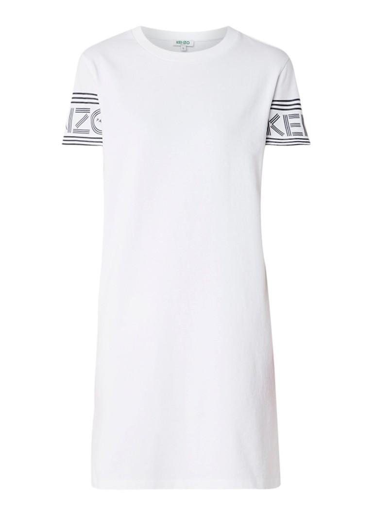 KENZO KENZO Logo T-shirt jurk met logoprint wit