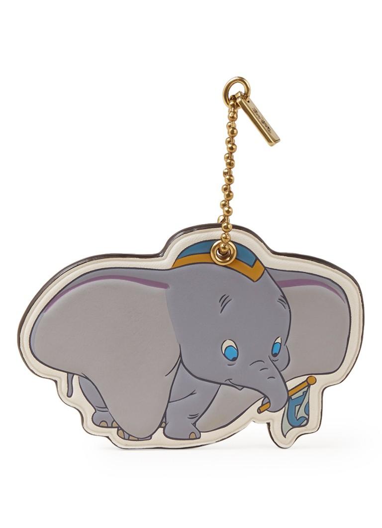 Coach Dumbo sleutelhanger van leer