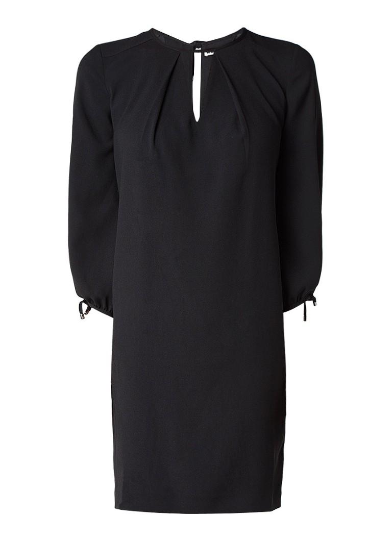 Whistles Lucia shift jurk met driekwartsmouw zwart