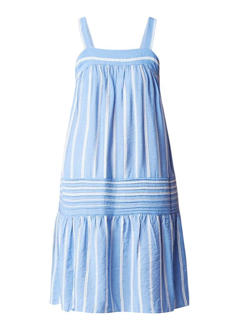 Whistles Simone mouwloze jurk met streepdessin blauw