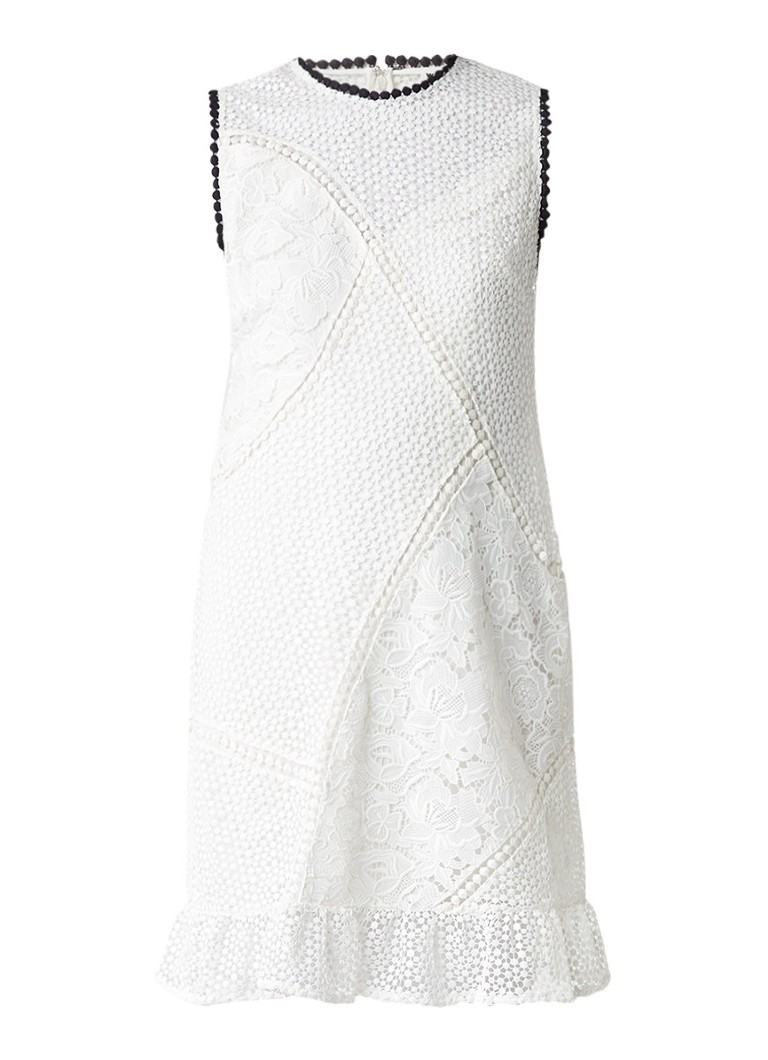 Whistles Cassie mouwloze jurk van kant gebroken wit