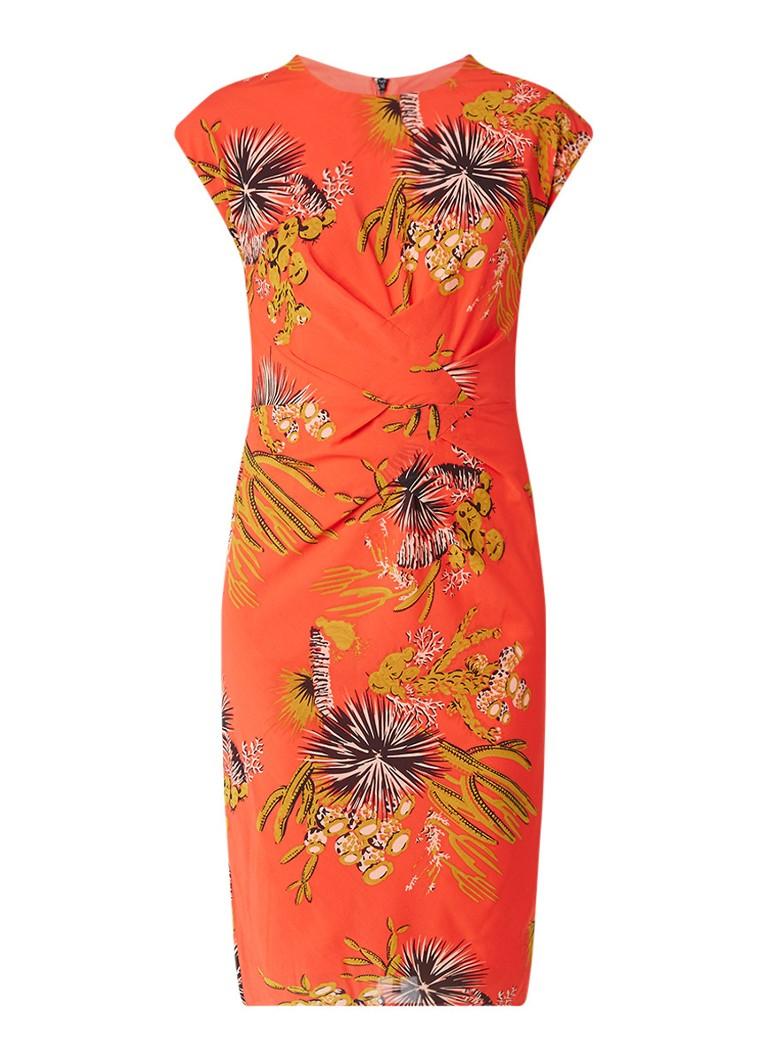 Whistles Cactus bodycon jurk van zijde met botanisch dessin rood