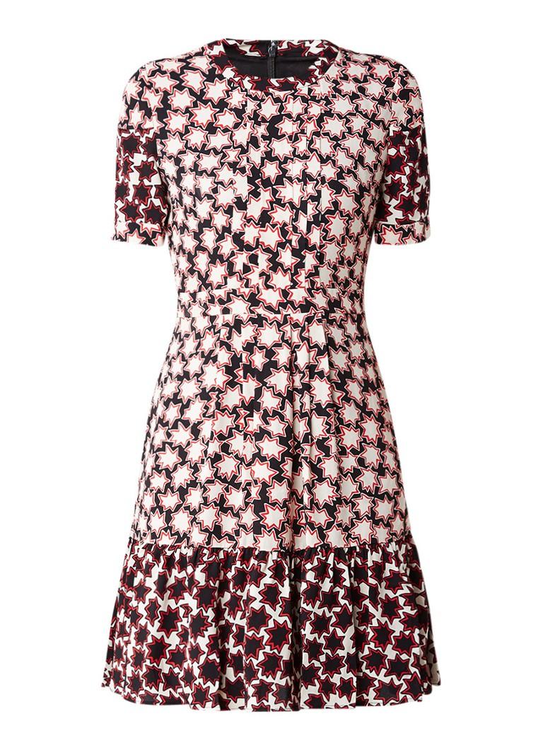 Whistles Midi-jurk met volant en sterrendessin rood