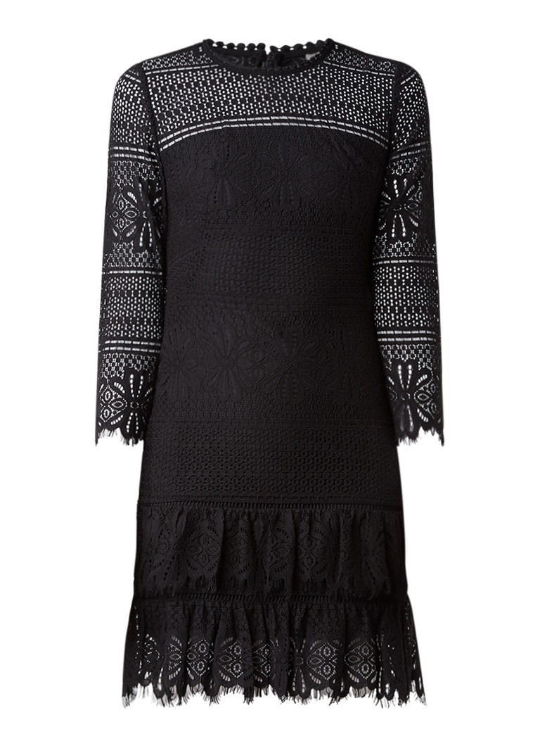 Whistles Marylou jurk van kant zwart